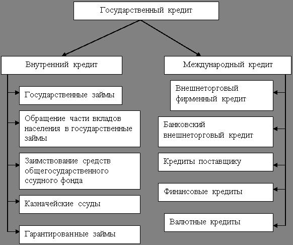 Государственный кредит: экономическая сущность, условия предоставления и основные виды
